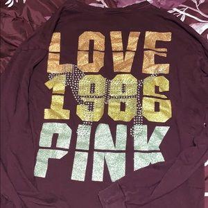 Pink vs size medium long sleeve top